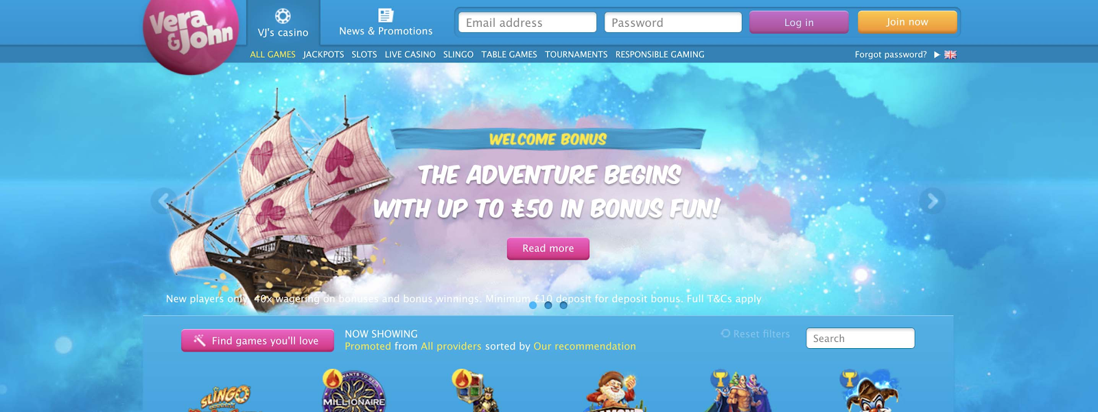 Top casino games online uk